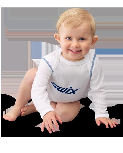 Boy with blue Swix body