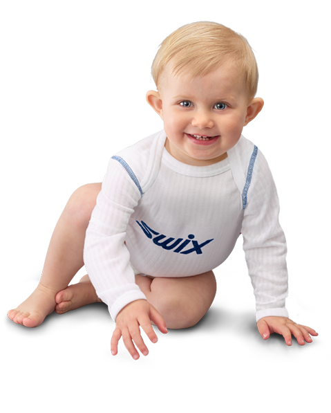 Boy with blue Swix body