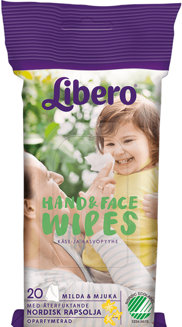 LIBERO HAND & FACE WIPES 20 st